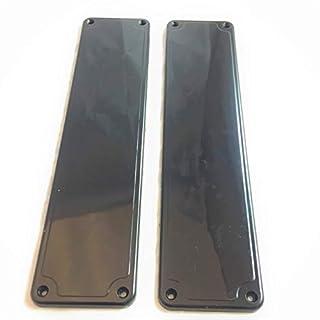 Remi Tools (R) 2 Black Door Finger Push Plates.