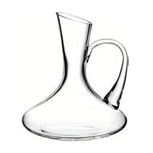 Carafe à Vin 2L Classic Avec Poignée - Conception à Ouverture Oblique - Verre En Cristal 100% Sans Plomb Soufflé à La Main, Accessoires Pour Vin, Carafe à Vin Rouge, Cadeau Vin, Ensemble Carafe, Aérat