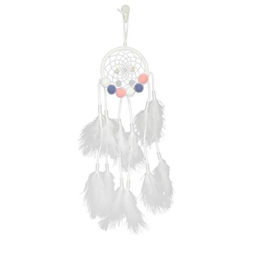 ToDIDAF - Lámpara de Noche Hecha a Mano, diseño de Plumas, Ideal para Colgar en la Pared del Coche, habitación, hogar, decoración de 50 cm