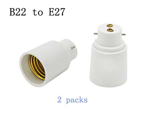 Light Base 2-pin (Leuchtmittel Sockel, lombex Leuchtmittel Adapter BC Bajonettsockel B22zu E27, Stecknuss Adapter Konverter, Leuchtmittel Sockel Fassung 220–240V, 2Stück...)