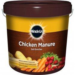 Scotts Miracle-Gro Fumier de poulet du sol Enricher–10kg Tub Granulés de facile d'utilisation