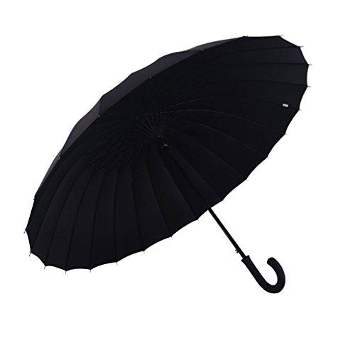 ZHHL Winddicht Regenschirm Männer Frauen Reisen Leichte Wasserdichte DurableUmbrella Starke 24 Fiberglas Rippen Alten Mann Gehstock Regenschirm (Farbe : D) -