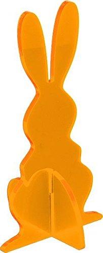 Elliot lichtzauber 1019902 vitrail 3D lapin mini 5 cm-debout-orange