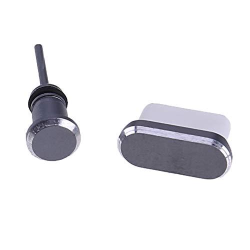 stecker Set USB Typ C Port & 3,5 mm Kopfhörer-Klinkenstecker für Huawei Samsung Galaxy Moto(Grau) ()
