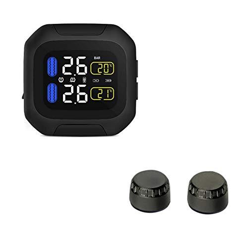 Ckground sistema di monitoraggio della pressione dei pneumatici tpms wireless con 2 sensori esterni per monitorare e visualizzare la pressione e la temperatura in tempo reale