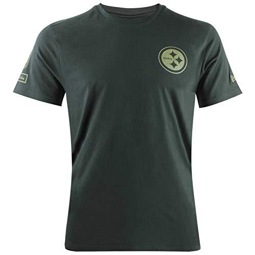 New Era NFL Camo Collection NFL Shield Logo T-Shirt American Football Camo Streetwear mit 7kmh M Schwarz