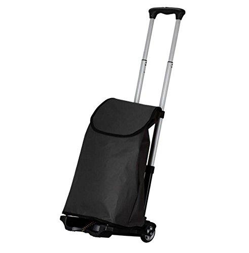 Aluminium Bar Pull (FFJTS Mini Hand Pull Cart Aluminium Klappwagen mit schwarzer Tasche)