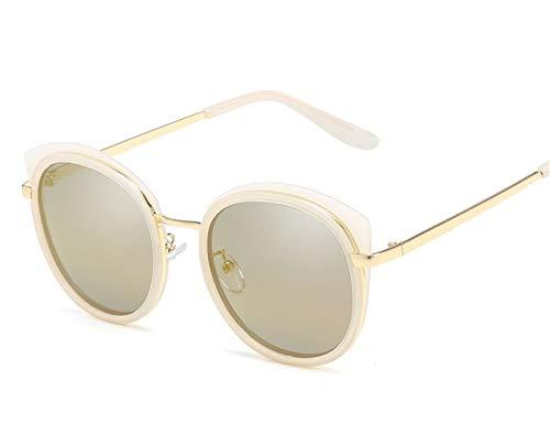 H.Y.FFYH Sonnenbrillen Sonnenbrille für Männer und Frauen Polarisierte Sonnenbrille Cat-Eye Retro Polarized Glasses Mode (Color : Gold)