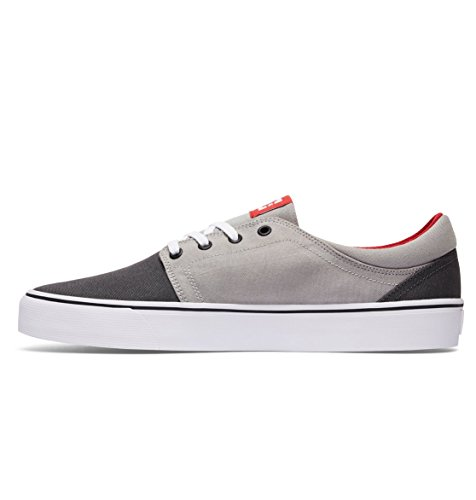 DC Shoes Trase Tx, Baskets mode homme Grey/Grey/Red