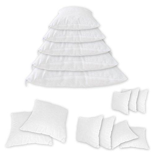 Qool24 Baumwolle Füllkissen mit Reißverschluss Gefüllte Inlett Kissen Sofakissen Innenkissen Schlafkissen 20 Größen Weiß 30x40 cm