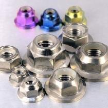Titanium flangiato nylon dado m3x 0.5mm
