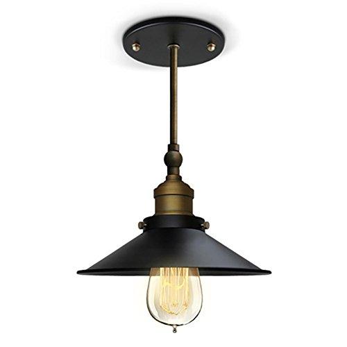 AMZH Retro Metall Industrie Deckenleuchten Wohnzimmer Kinderzimmer Terrasse Lampen Deckenleuchten Praktische Energiesparlampen E27 110V 220V Breite 20cm Höhe 28cm