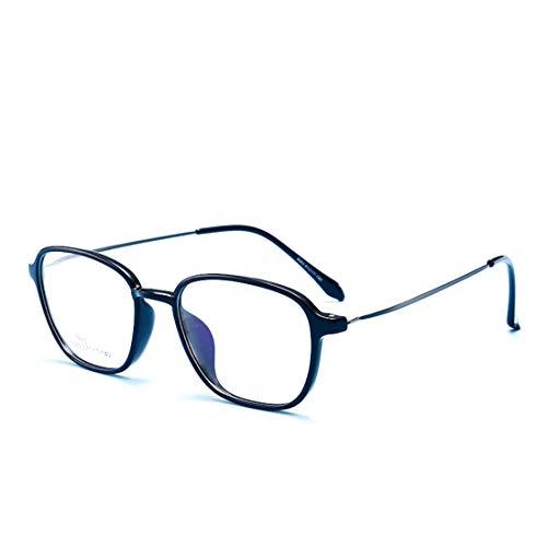 Chengduaijoer Retro Brillengestell Mode Brille klare Brille Brillen Männer Frauen (Color : Black)