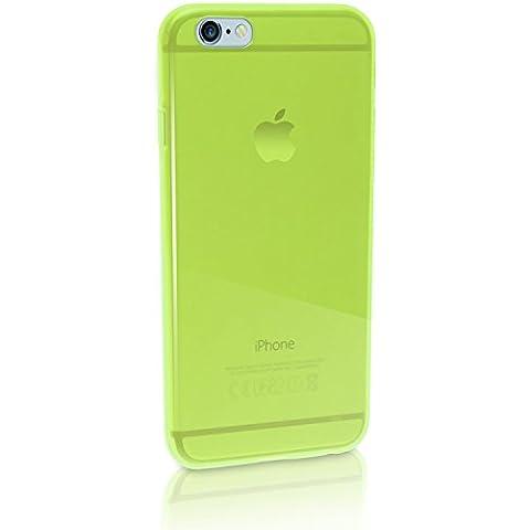 igadgitz Transparente Verde Lustroso Funda Carcasa Gel TPU para Apple iPhone 6 & 6S 4.7