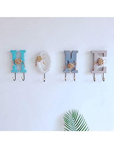 HJLBM Kreativer Haken Kreative Holzbuchstaben Kleiderhut Haken Wandhalter Dekorative Haken Eetryway Flur, Home -