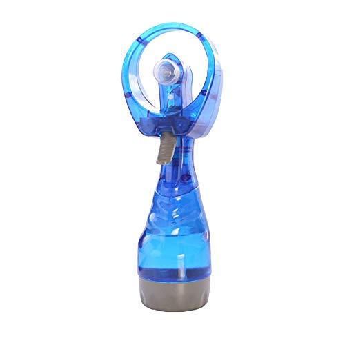 RoadRoma Mini Ventilador de pulverización de Agua Ventilador de refrigeración/Ventilador de Agua pulverizada a Mano Batería Azul de Encendido