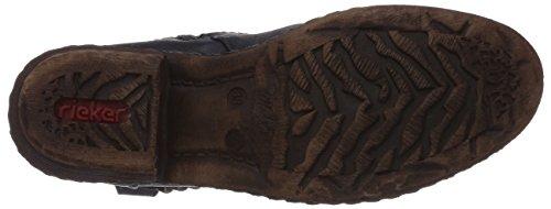 Rieker 93871-14, Stivali cowboy, altezza metà polpaccio Donna Blu (Blau (uniform / 14))
