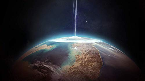 JUAMAZING Erde Meteor Malerei von Zahlen DIY Moderne Wandkunst Bild oder Erwachsene Kinder Anfänger Acrylfarbe auf Leinwand handgemalt Hauptdekoration Geschenk Frameless 40x50 cm