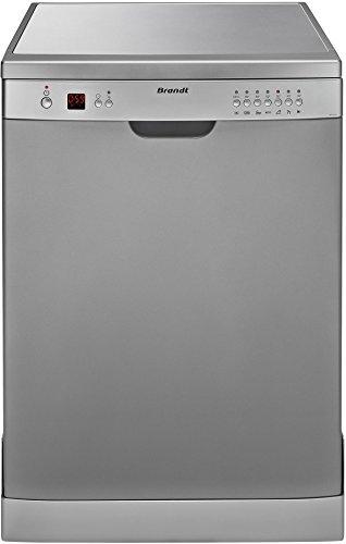 Brandt DFH12127S Autonome 12places A+ lave-vaisselle - lave-vaisselles (Autonome, Argent, Argent, boutons, 12 places, 47 dB)