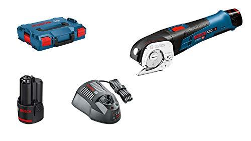 Bosch Professional Ciseaux universels Sans Fil GUS 12V-300 (2 batteries 2.0 Ah Li-Ion, 12V, Capacité de coupe : 300 m, L-BOXX)