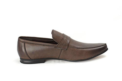 Pour Hommes Chaussures À Enfiler Italian Mocassin Élégant Designer Moccasin Travail Décontracté Taille Café