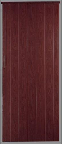 Falttür Schiebetür Tür mahagoni farben mit Schloß/Verriegelung Höhe 202 cm Einbaubreite bis 109 cm Doppelwandprofil Neu -