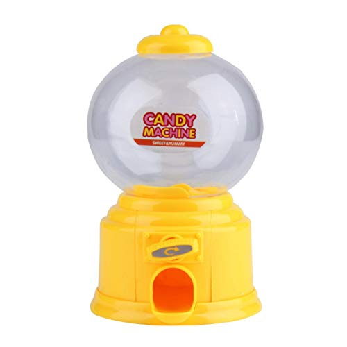 Wafalano Máquina de Dulces, Plástico Mini Máquina de Dulces Bubble Gumball Dispensador Moneda Banco Niños Juguete para Gumballs Cacahuetes Pequeños Dulces y bocadillos