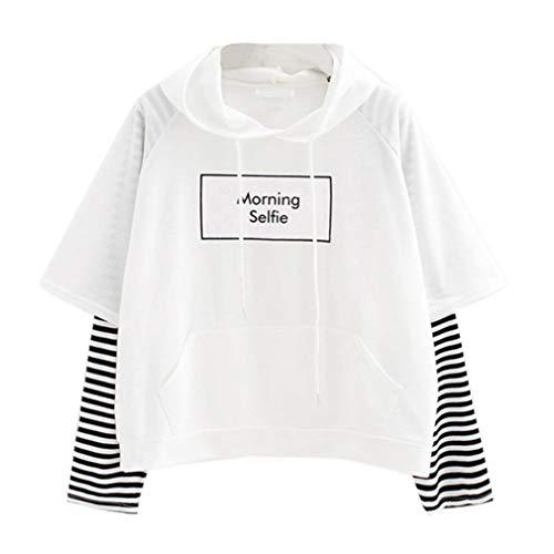 Sweatshirt Damen SUNNSEAN Frauen Splicing Streifen Pullover Hoodie Stilvolle Kleidung Oberteile Mit...