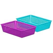 Araven caja de almacenaje bonnie mediano de 23,8x16x5,8cm