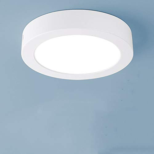 Mogicry 18 watt oberflächenmontierte weiße runde Downlight Business Show LED deckenleuchte Haushalt energiesparende Panel licht kommerziellen Aluminium deckenplatte licht (3000/6000K 225mm) -
