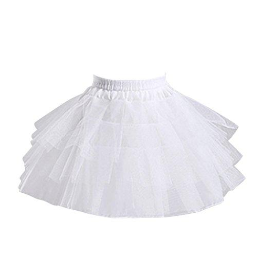 Cosplayitem sottogonna crinolina sottoveste hoopless danza bambine ragazze gonne petticoat bianca
