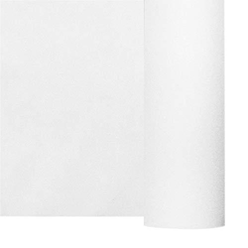 Thouy Nappe en intissé Soft Blanche en Rouleau Grande Largeur 1,80 x 25 m