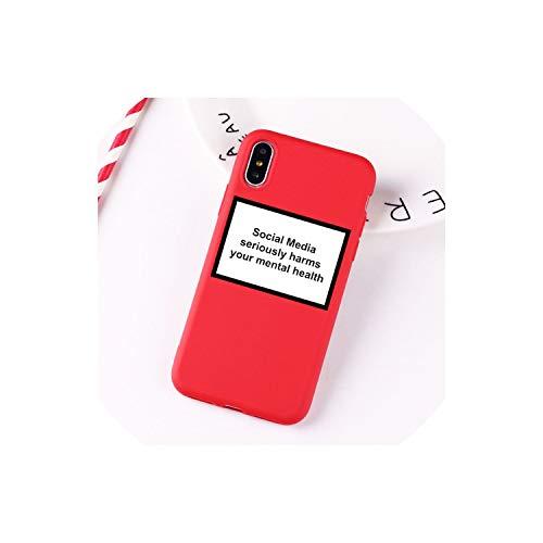 Anastasia.S Social Media schadet ernsthaft Ihre Mental Health Soft-Silikon klar Telefon-Kasten für iPhone X Xr Xs Max 6 7 8 Plus 5 5S 6S Cover, 3, für iPhone 5 5S Se (S Galaxy Iii-telefon-abdeckung Samsung)