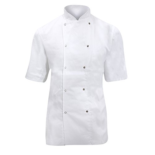 dennys-ladies-womens-short-sleeve-chefs-jacket-chefswear-xs-white