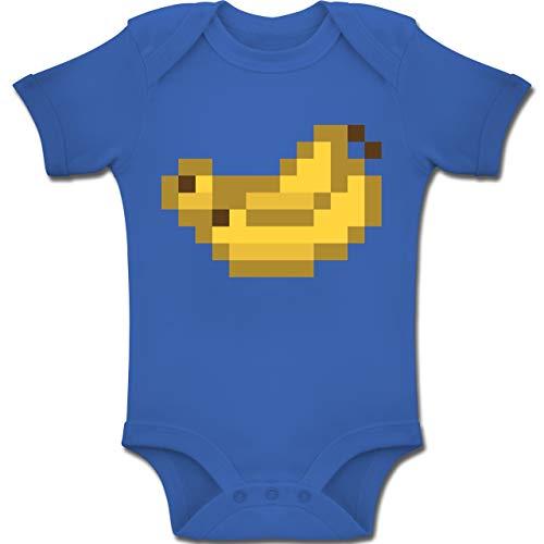 Kostüm Banane Baby - Shirtracer Karneval und Fasching Baby - Pixel Bananen - Karneval Kostüm - 3-6 Monate - Royalblau - BZ10 - Baby Body Kurzarm Jungen Mädchen