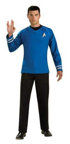 Rubie s Star Trek Grand Heritage Blue Shirt Fancy Dress (XL)