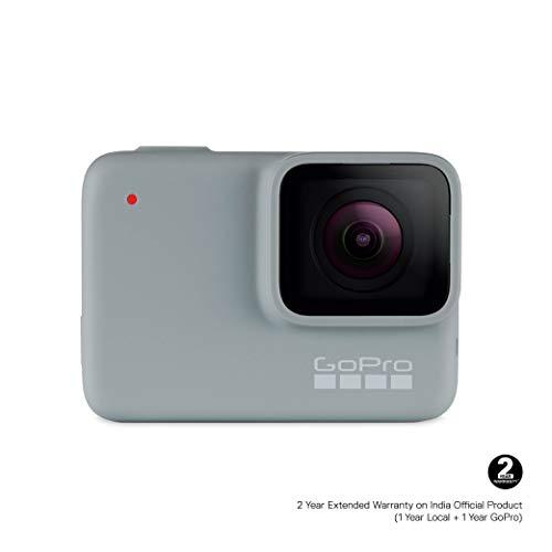 GoPro HERO7 White — Caméra numérique embarquée étanche avec écran tactile, vidéo HD 1440p et...