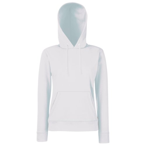 Fruit of the Loom Classic Hooded Sweat Lady-Fit - Farbe: White - Größe: L White Womens Sweatshirt