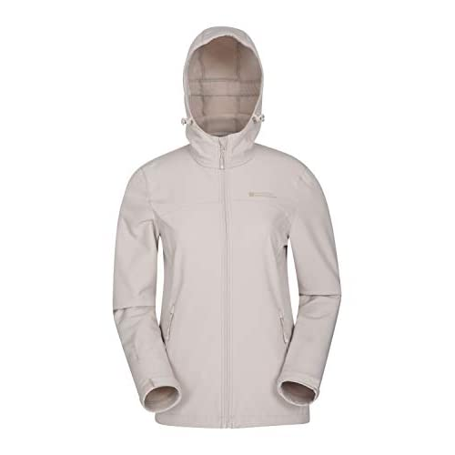 31wGBYl4JNL. SS500  - Mountain Warehouse Exodus Womens Water Resistant Softshell Jacket - Breathable Ladies Coat, Scooped Back Outer - Great Raincoat for Winter & Cold Weather
