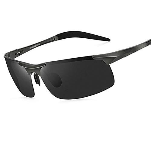 YIWU Brillen Sonnenbrillen Herren Polarisierte Brillen 2019 Die Neue Persönlichkeitssonnenbrille Geeignet für Männer über 150 kg Brillen & Zubehör (Color : Black-1)