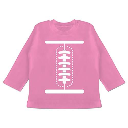 Nfl Football Kostüm - Karneval und Fasching Baby - Football Baby Kostüm - 12-18 Monate - Pink - BZ11 - Baby T-Shirt Langarm