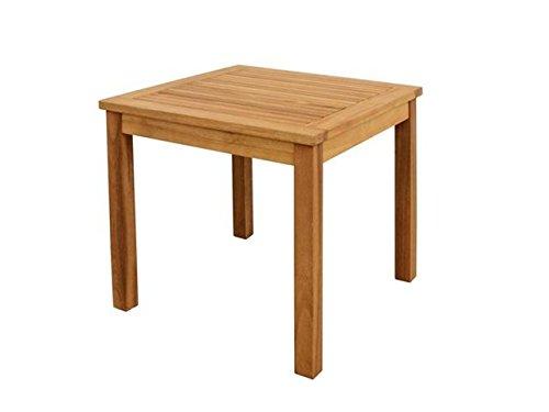 Unbekannt VARILANDO Beistelltisch aus geölter Akazie Holztisch Gartentisch 50x50 cm
