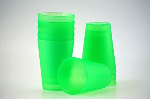 S&S-Shop 10 Plastik Trinkbecher 0,4 l - grün - Mehrwegtrinkbecher/Partybecher / Becher