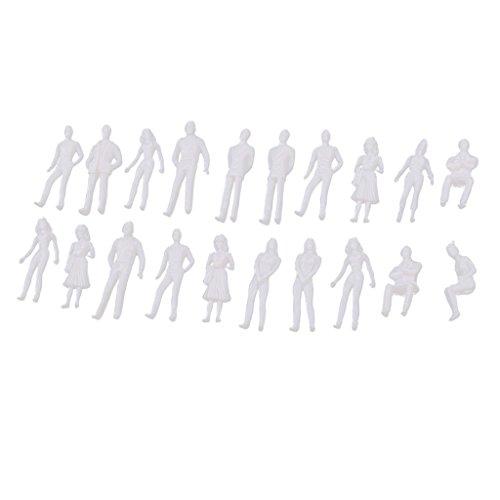 MagiDeal 20 Stück 1:50 Miniatur Menschen Modell Figuren Spielzeug -