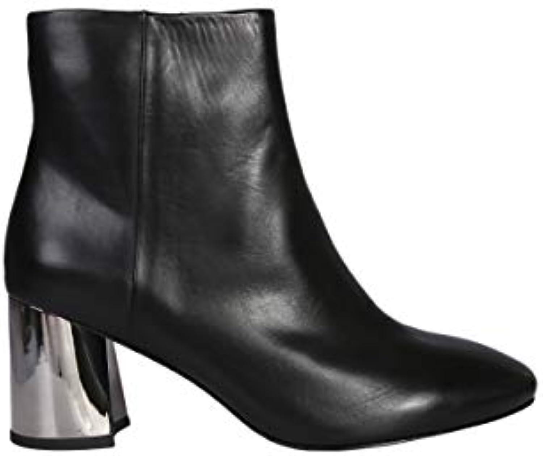 Ash Femme Cuir HARLEM02BLACK Noir Cuir Femme Bottines 5629e1