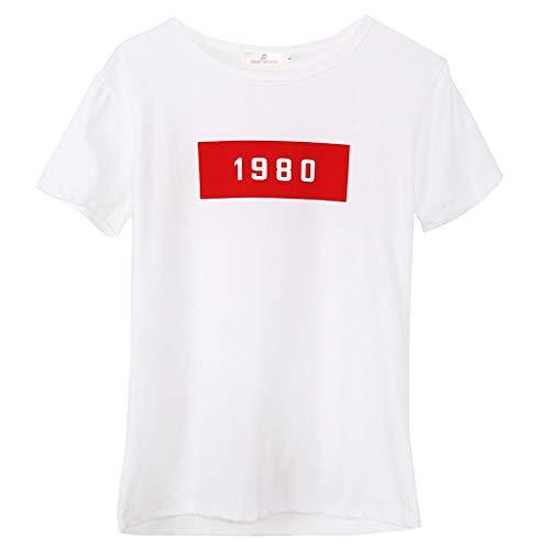 Lamdoo Frauen süße Junioren Tops Teen Girl Tee Lustiges T-Shirt Weiß M (Junioren Mäntel)