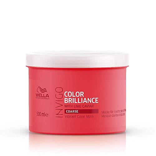 Wella Professionals Care Invigo Color Brilliance Masque Couleur Éclatante Cheveux colorés épais/indisciplinés 500