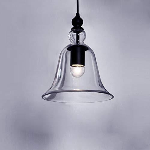 ZSYUN Industrielle Vintage Retro Einzellicht Mini Pendelleuchte Pendelleuchte Deckenleuchte Kronleuchter Mit Klar Glocke Glas Schatten Home Restaurant Beleuchtung led -