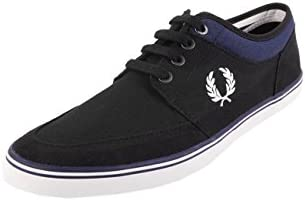 Fred Perry Stratford Canvas Black Snow White B1167102, Deportivas