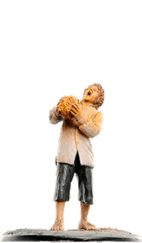 Statue von Blei Lord of the Rings Collection Nº 134 Pippin & Palantir